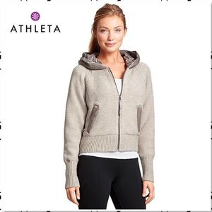 Athlete Attica Wool Fleece Hooded Winter Jacket L